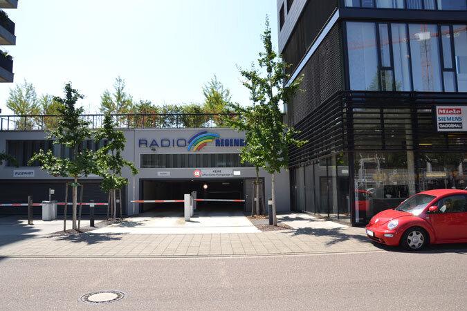 Einfahrt Parkhaus Plastische Chirurgie Karlsruhe